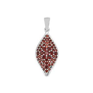Anthill Garnet Pendant in Sterling Silver 1.11cts