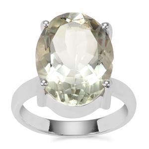 Prasiolite Ring in Sterling Silver 9cts