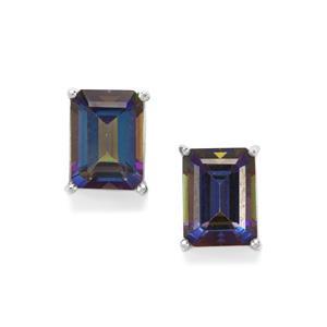 Mystic Blue Topaz Earrings in Sterling Silver 3.71cts