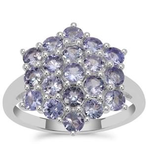 Tanzanite Ring in Sterling Silver 1.80cts