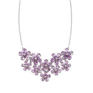 Moroccan Amethyst Necklace with White Topaz in Sterling Silver 24.54cts