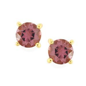 Mahenge Purple Spinel Earrings in 9K Gold 0.76cts