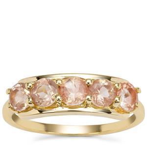 Peach Parti Oregon Sunstone Ring in 9K Gold 1.27cts