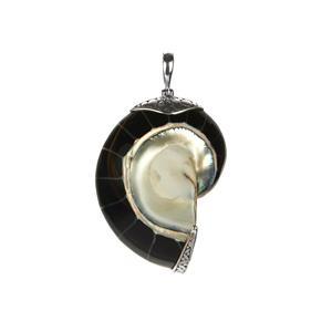Samuel B Black Shell Sterling Silver Pendant