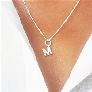 Molte M Charm in Sterling Silver