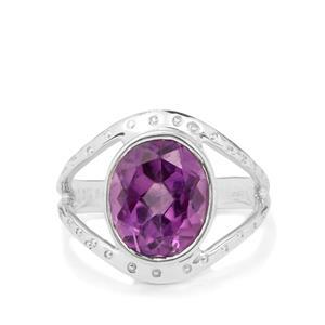 3.50ct Bahia Amethyst Sterling Silver Aryonna Ring