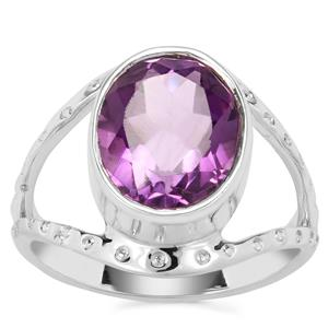 Bahia Amethyst Ring in Sterling Silver 3.50cts
