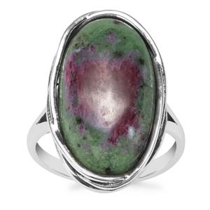 Ruby-Zoisite Ring in Sterling Silver 13.29cts