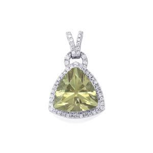 Csarite® Pendant with Diamond in Platinum 950 7cts