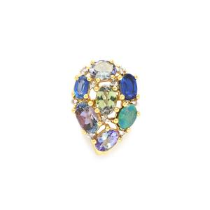 Harlequin Pendant in 10K Gold 3.55cts