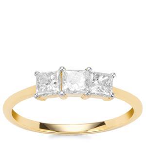 Diamond Ring in 18K Gold 0.77ct