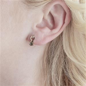 0.49cts Green Color Change Andesine 10k Gold Earrings (U)