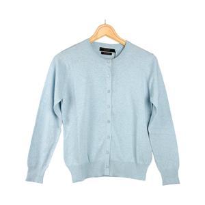 Daryl by Destello 100% Cotton Destello Alice Knitwear (Crew Neck Button Cardigan) (Sky Blue)