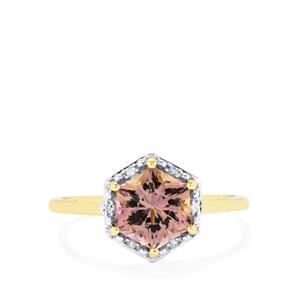 Anahi Ametrine Ring with Diamond in 10k Gold 1.69cts