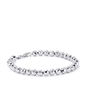 Sterling Silver Hammered Bead Bracelet