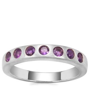 Zambian Amethyst Ring Sterling Silver 0.49ct