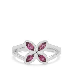 0.76ct Rajasthan Garnet Sterling Silver Ring