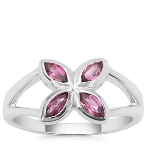 Rajasthan Garnet Ring in Sterling Silver 0.76ct