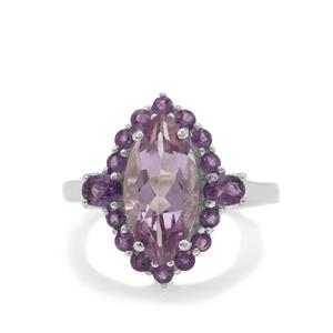 Rose De France Amethyst Ring with Ametista Amethyst in Sterling Silver 3.70cts