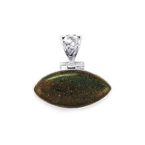 Andamooka Opal Pendant in Sterling Silver 9.50cts