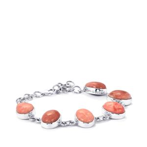 Pink Lady Opal Bracelet in Sterling Silver 22.42cts
