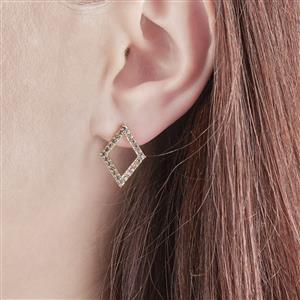 White Topaz Earrings in Vermeil 0.88ct
