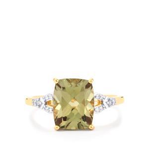 Csarite® & Diamond 18K Gold Ring MTGW 3.82cts