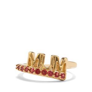 0.49ct Rajasthan Garnet Midas Ring