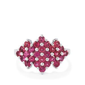 2.40ct Rajasthan Garnet Sterling Silver Ring