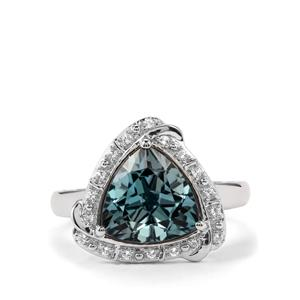 Versailles Topaz Ring with White Topaz in Sterling Silver 3.90cts