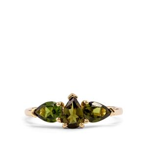 Chrome Tourmaline Ring  in 9K Gold 1.10cts