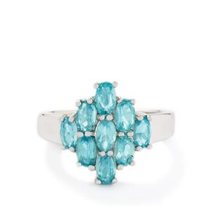 2.24ct Madagascan Blue Apatite Sterling Silver Ring