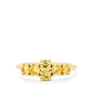 1.35ct Ceylon Zircon 9K Gold Ring