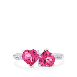 2.97ct Mystic Pink & White Topaz Sterling Silver Ring