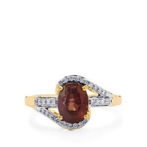 Bekily Colour Change Garnet & Diamond 18K Gold Tomas Rae Ring MTGW 2.86cts
