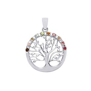 Rainbow Tourmaline Pendant in Sterling Silver 0.40ct