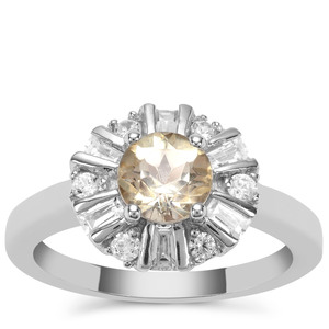 Serenite Ring with White Zircon in Sterling Silver 1.69cts