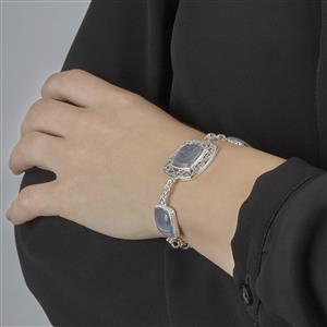 Botswana Agate Bracelet in Sterling Silver 25.00ct