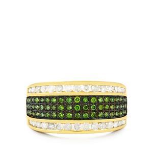 1ct Green & White Diamond 10K Gold Tomas Rae Ring