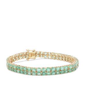 Zambian Emerald Bracelet in 9K Gold 14.92cts