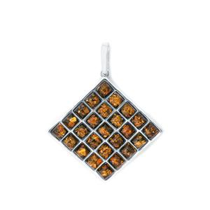 Baltic Green Amber Sterling Silver Pendant