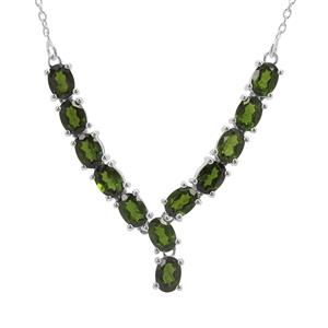9.34ct Chrome Diopside Sterling Silver Necklace