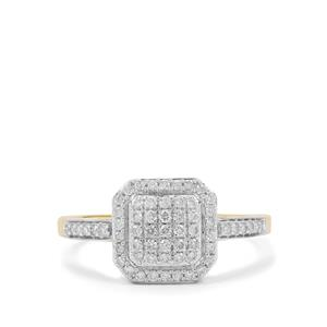 Argyle Diamond Ring in 9K Gold 0.35ct