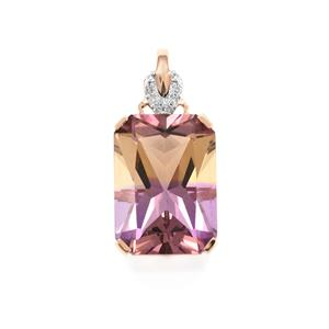 Anahi Ametrine Pendant with Diamond in 9K Rose Gold 6.07cts