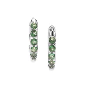 Green Topaz Earrings in Sterling Silver 0.35ct