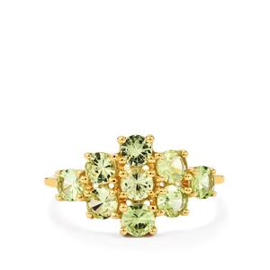 1.60ct Merelani Mint Garnet 10K Gold Ring