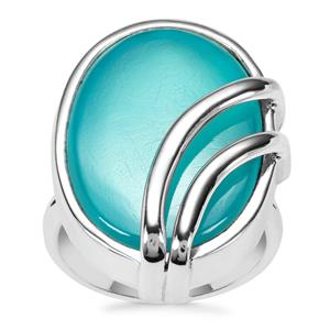 Aqua Chalcedony Ring in Sterling Silver 17cts