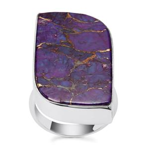Purple Copper Mojave Turquoise Ring in Sterling Silver 22cts