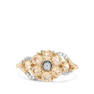 Ouro Preto Imperial Topaz & White Zircon 9K Gold Ring ATGW 1.65cts
