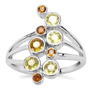 Ambilobe Sphene Ring with Morafeno Sphene in Sterling Silver 1.22cts